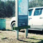 Kiosk at Butch Kennedy Trailhead
